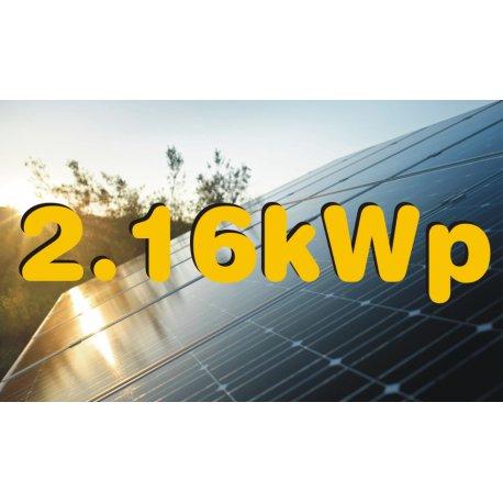 Zestaw o Mocy Nominalnej 2,16 kWp