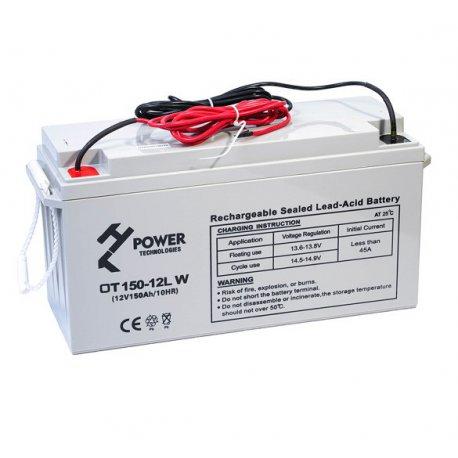 Akumulator żelowy GEL Deep Cycle HT POWER OT150-12LW 12V 150Ah z kablami