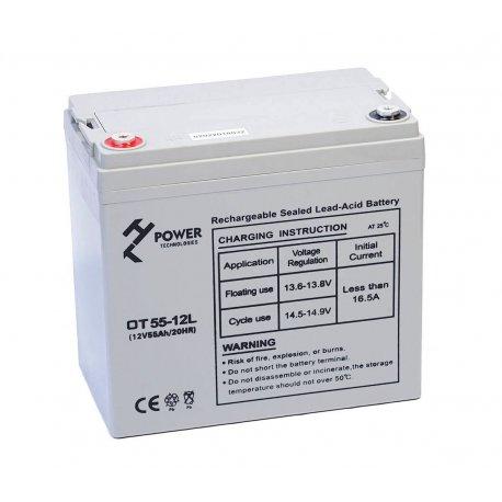 Akumulator żelowy GEL Deep Cycle HT POWER OT55-12L 12V 55Ah M6