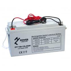 Akumulator żelowy GEL HT POWER OT150-12LSW 12V 150Ah z kablami