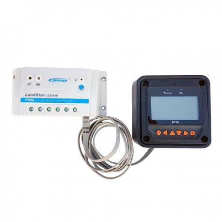 Kontroler ładowania LS1024B 10A z panelem sterującym MT50