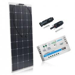 Zestaw na Łódź Panel słoneczny Flex 160W / PWM 10A