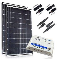 Zestaw paneli słonecznych 2x100W