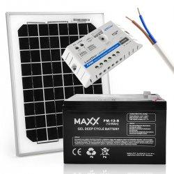 Zestaw solarny 10W 12V / 9Ah