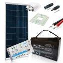 Zestaw zasilania solarnego na kamper z akumulatorem 100Ah – Moc 155W Maxx