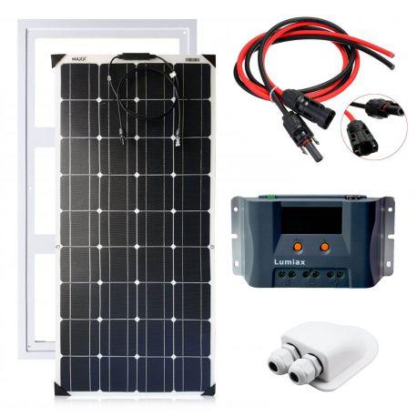 Zestaw zasilania solarnego na kamper – FLEX 100W MAXX / MPPT10A
